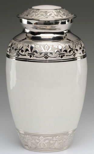 White Cremation Urns