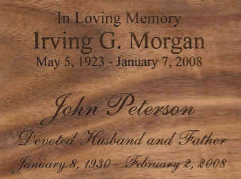 cremation urn engraving
