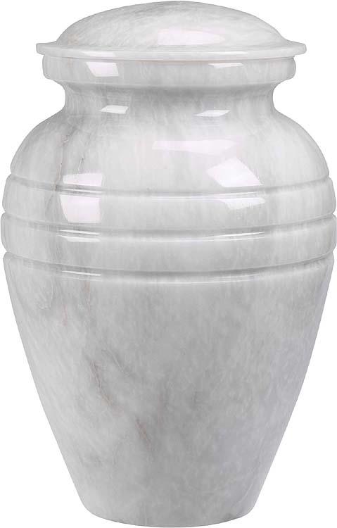 Beautiful White Grain Marble Urn Memorial Urns