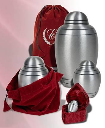 Brushed Pewter Alloy Cremation Urn Memorial Urns