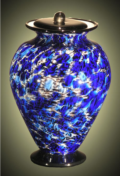 Amato Art Glass Small Cremation Urn Memorial Urns