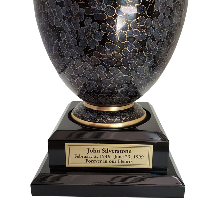 Wood Base For Urns Black Piano Finish Memorial Urns