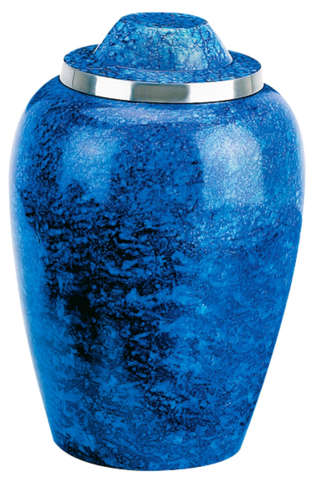 Cobalt Blue Metal Urn Memorial Urns