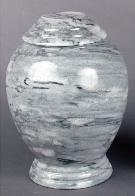 Gray Marble Adult Cremation Urn Memorial Urns