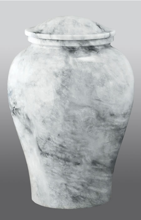 Arno White Marble Adult Cremation Urn Memorial Urns