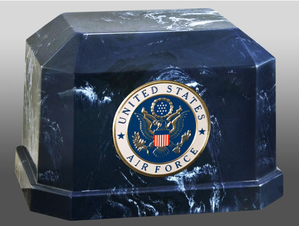 Navarro Air Force Cultured Marble Cremation Urn Memorial