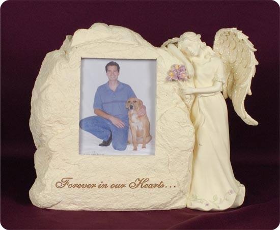Stone Picture Frame With Angel Urn - Memorial Urns
