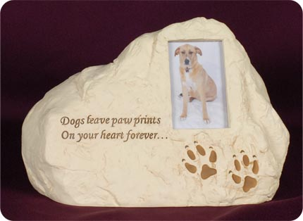 Stone Picture Frame Urn For Dog Memorial Urns
