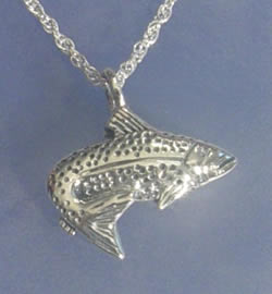 Fish pendant memorial urns for Fish cremation jewelry