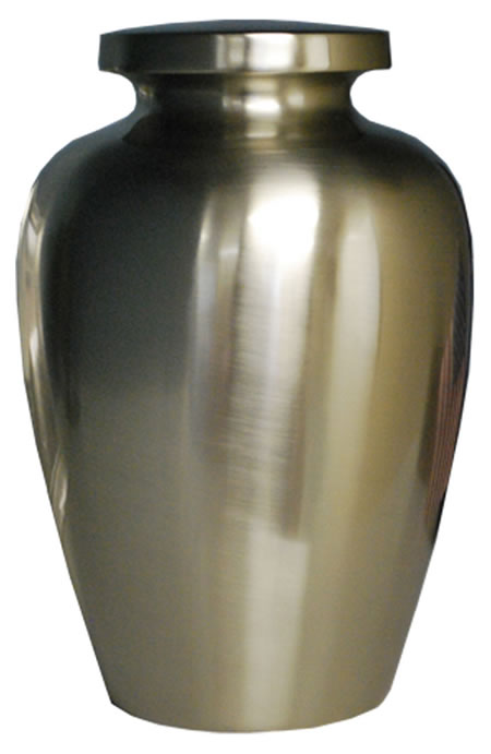 Cretian Brushed Nickel Cremation Urn Memorial Urns
