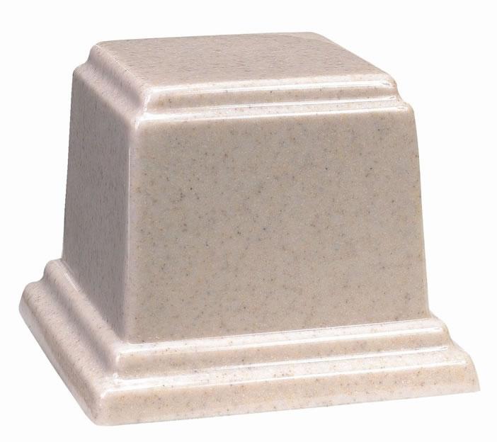 Medium Cultured Granite Cremation Urn Memorial Urns
