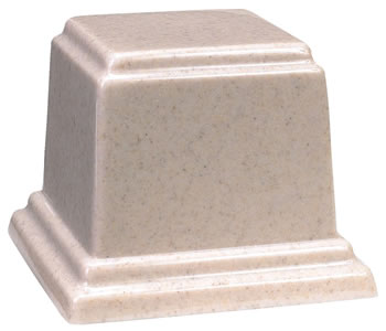 Medium Square Cultured Granite Urn