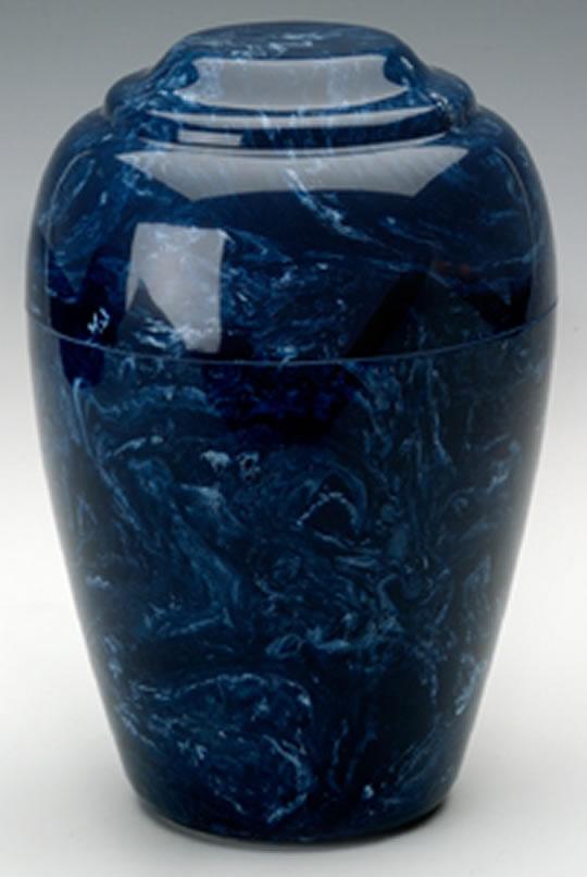 Navy Grecian Marble Urn Memorial Urns