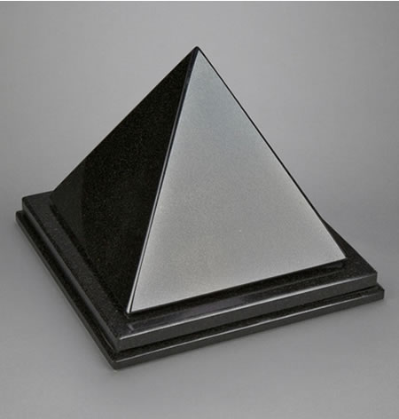 nero absoluto pyramid single urn memorial urns. Black Bedroom Furniture Sets. Home Design Ideas