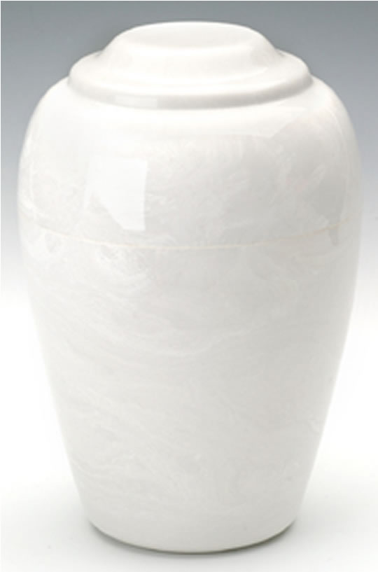 White Grecian Marble Urn Memorial Urns