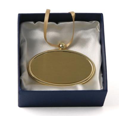Gold Oval Pendant Nameplate Memorial Urns