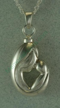 Mother and child pendant Cremation Urn