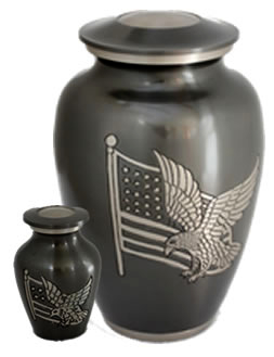 Eagle and Flag Alloy Cremation Urns
