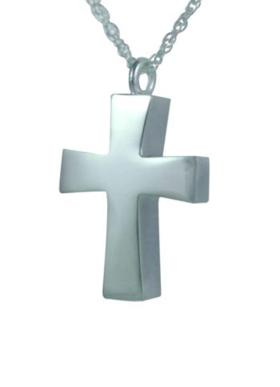 Cross pendant cremation urn