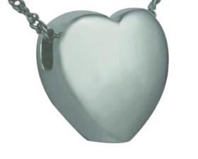 Silver Slider Heart Pendant Cremation Urn
