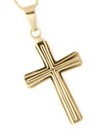 Gold Double Cross Pendant Cremation Urn