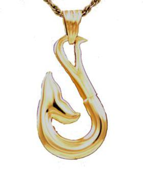 Gold Whale Tail Pendant Cremation Urn