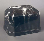 Navarro Black Cultured Marble Cremation Urn