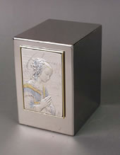 Madonna on Stainless Steel Cremation Urn