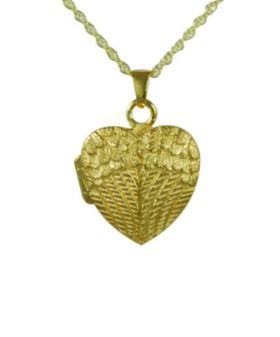 Gold Wing heart Locket Cremation Urn