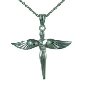 Fairy cross Pendant Cremation Urn