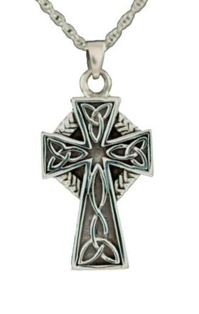 Celtic cross jewelry pendant urn