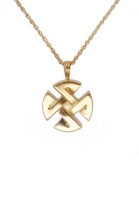 Gold celtic pendant Cremation Urn