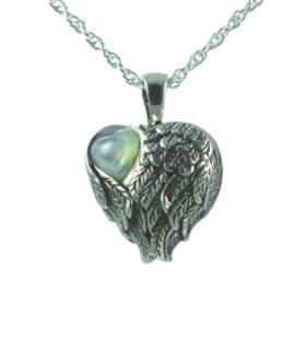 Mother of pearl with wings pendant Cremation Urn