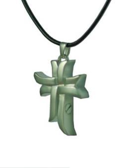 Brass oriental cross pendant Cremation Urn