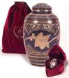 Solid Brass Hand Carved Cremation Urn