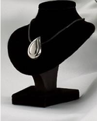 Teardrop Pendant Cremation Urn - Polished Silver