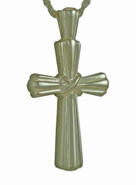Silver Stalk Cross Pendant Cremation Urn