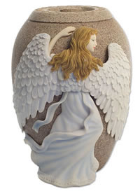 Angel Wings Cremation Urn - Sandstone