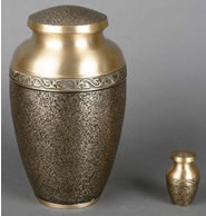 Aristocracy Textured Brass Cremation Urn