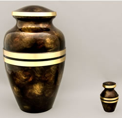 Autumn Banded Cremation Urn