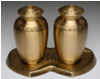 Etched Leaf Companion Urns