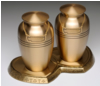 Brass Companion Cremation Urns with Base