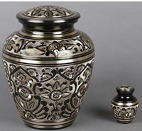 Biarritz Etched Brass Cremation Urn