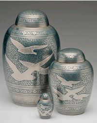 Birds in Flight Cremation Urn