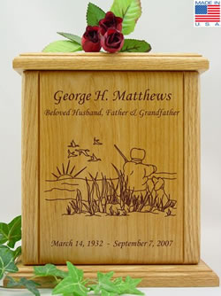 Waterfowl Hunter Cremation Urn