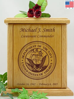 Navy Military Cremation Urn