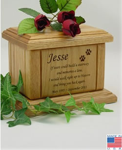Memorial Poem Pet Cremation Urn