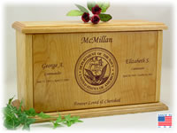 Companion Military Wood Cremation Urn