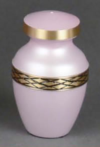 Calais Soft Pink Brass Keepsake Cremation Urn