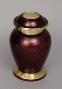 Cardinal Red Brass Keepsake Cremation Urn